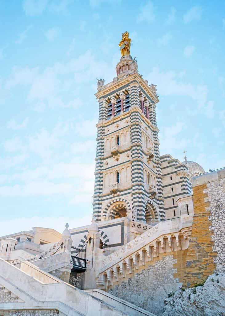 Basilica of Notre Dame de la Garde in Marseille, France.