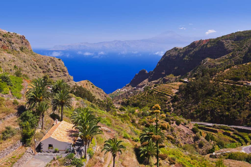 La Gomera is a quiet island in Spain.