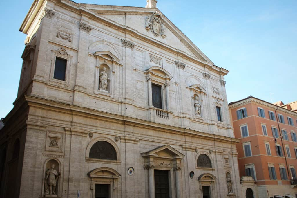 The Church of St. Louis of the French in Rome, Italy