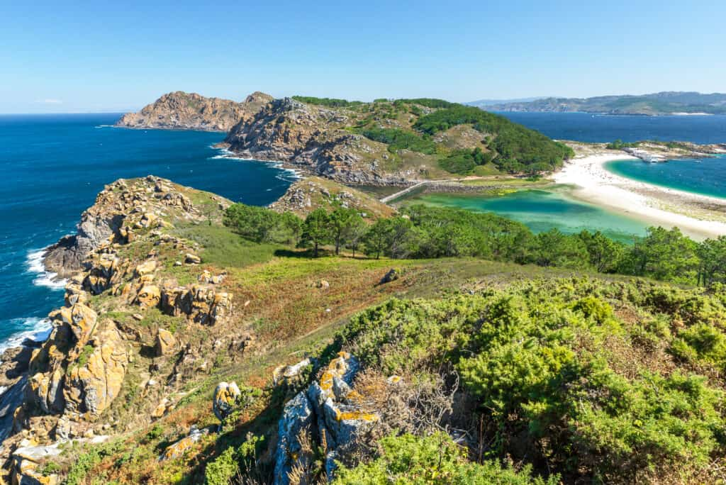 Cies Islands in Spain