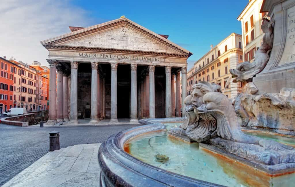 The Rome Pantheon is an essential stop on a self-guided walking tour of the city.