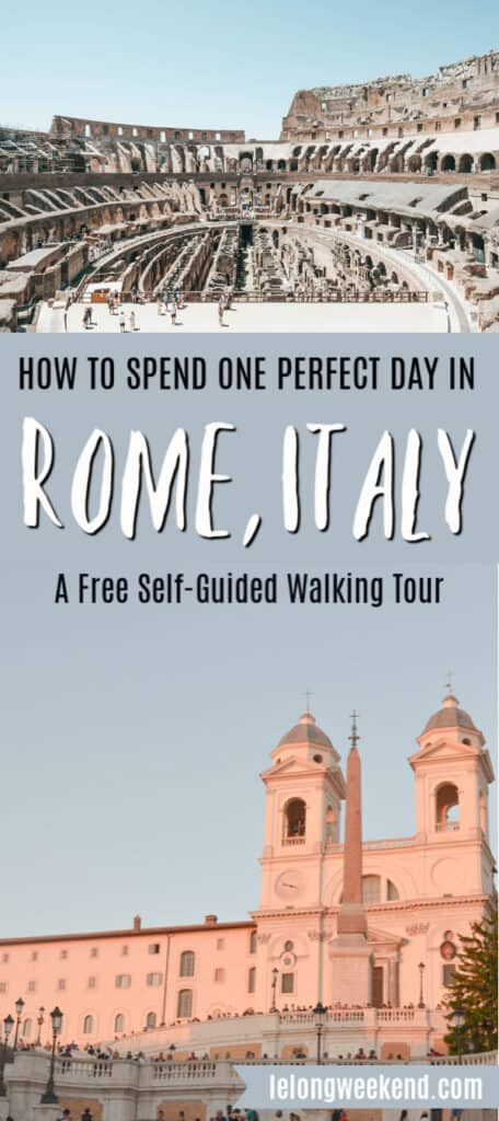 Wondering how to make the most of one day in Rome, Italy? We've created the ultimate free self-guided walking tour of Rome that takes in all the highlights while still allowing time for gelato stops along the way!