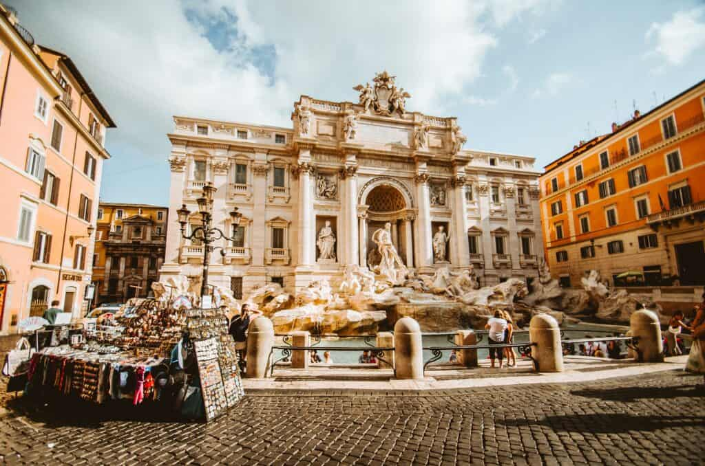 Trevi Fountain is an essential stop on a walking tour of Rome, Italy