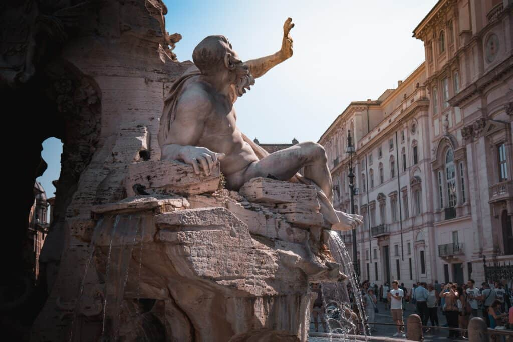 Piazza Navona is a must do when spending one day in Rome
