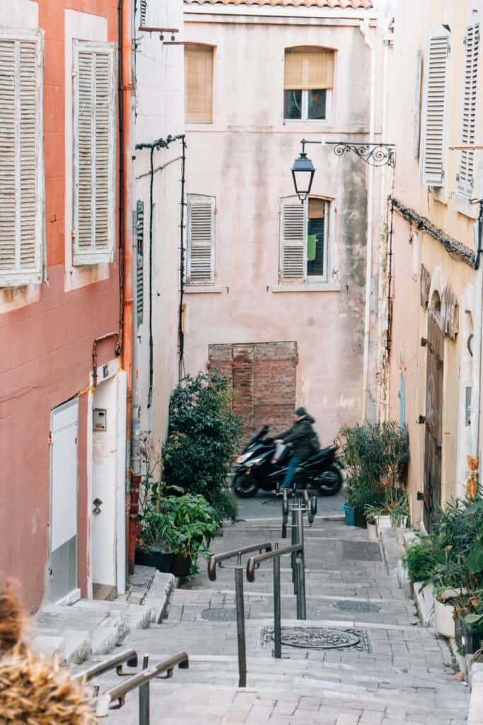Le Panier district in Marseille, France