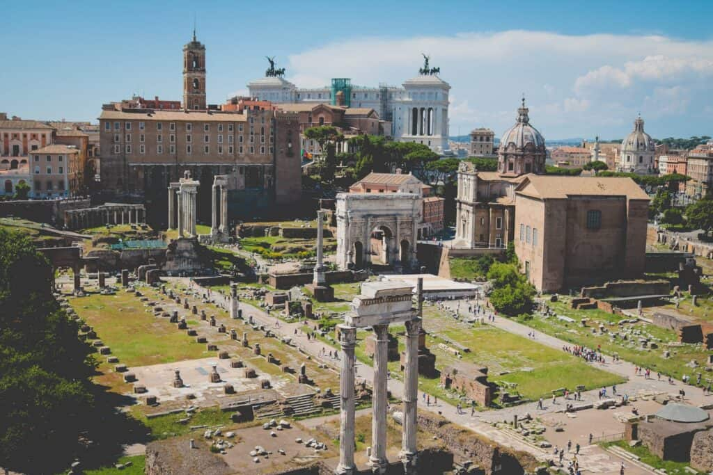 Visit the Roman Forum on a walking tour of Rome