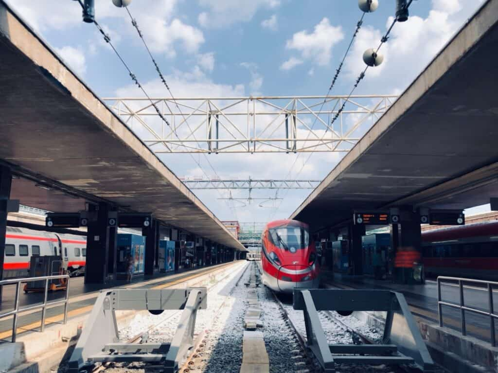 Termini train station in Rome, Italy