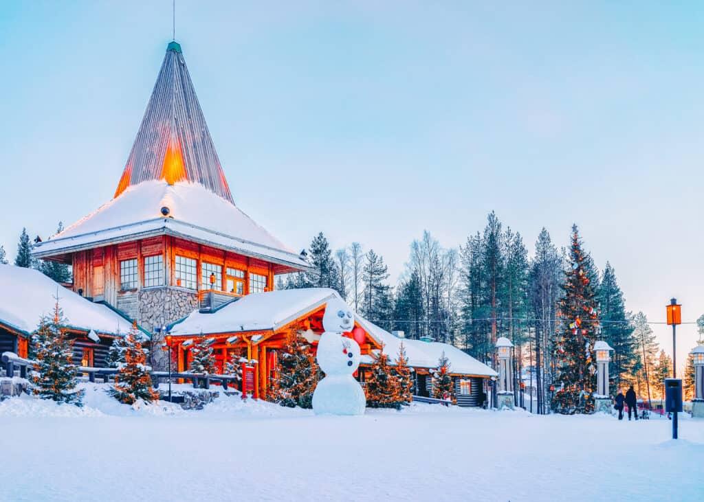 Santa Claus Village in Rovaniemi in Lapland in Finland.