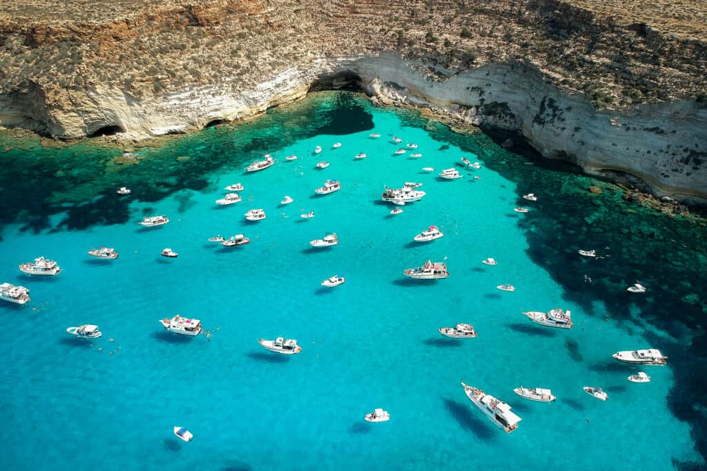Lampedusa Island in Italy