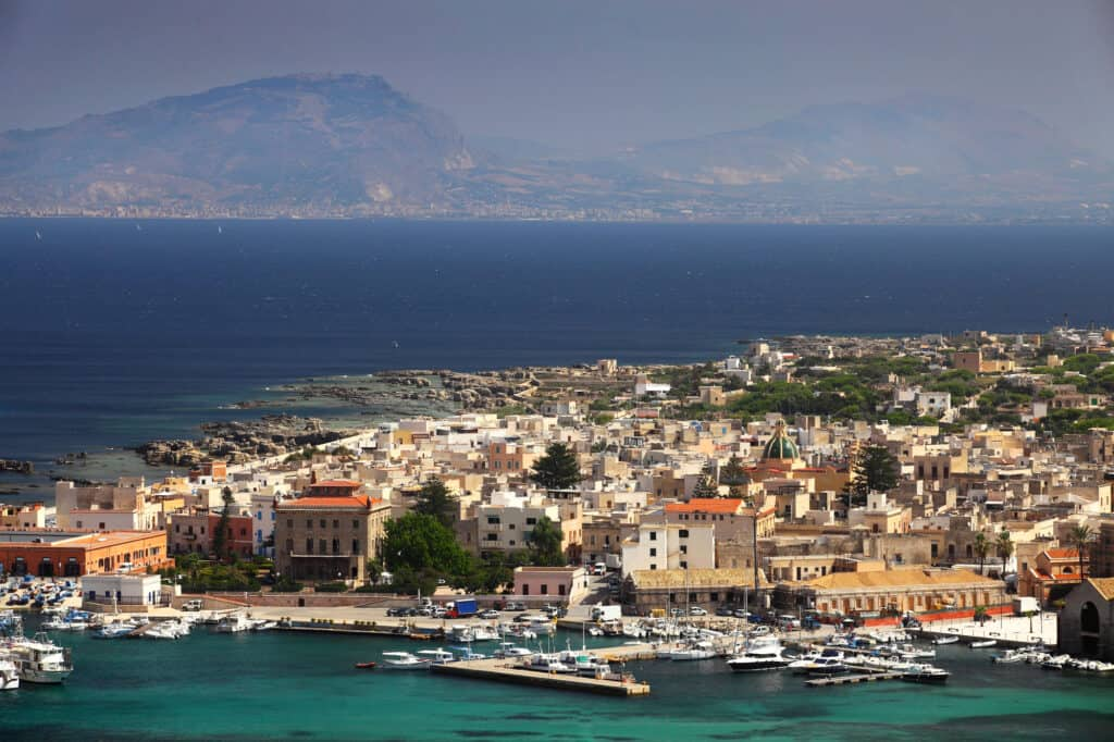 Favignana is an Island off the coast of Sicily, Italy
