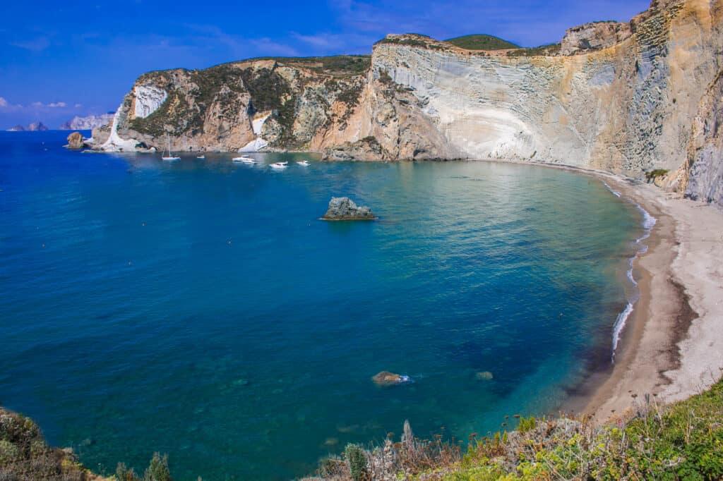 Ponza Island in Italy