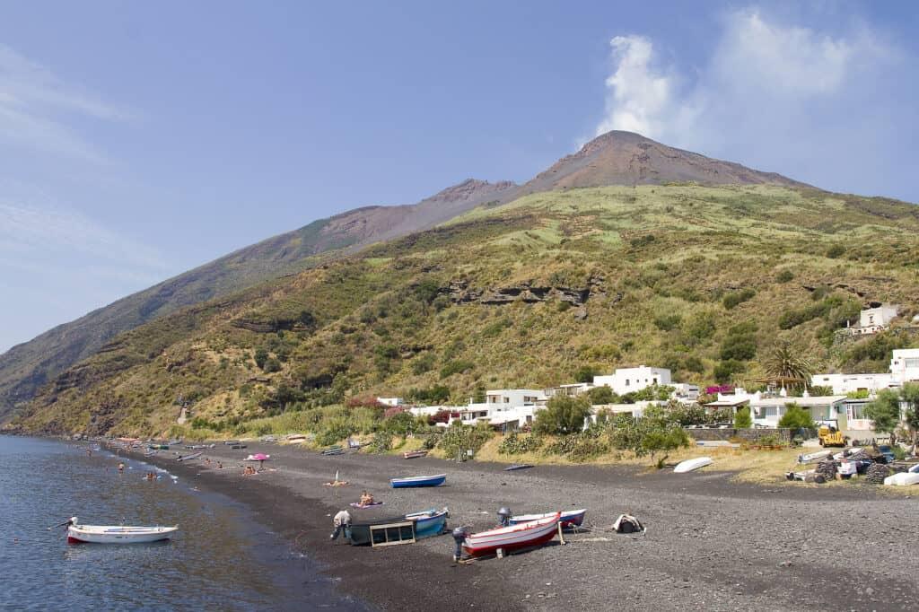 Stromboli Island in Italy
