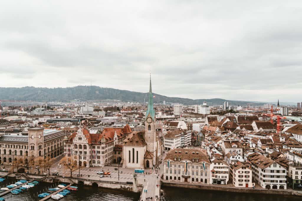 Zurich, Switzerland is a beautiful European city to visit in December