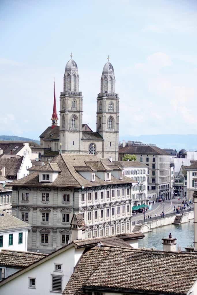 Zurich in winter.