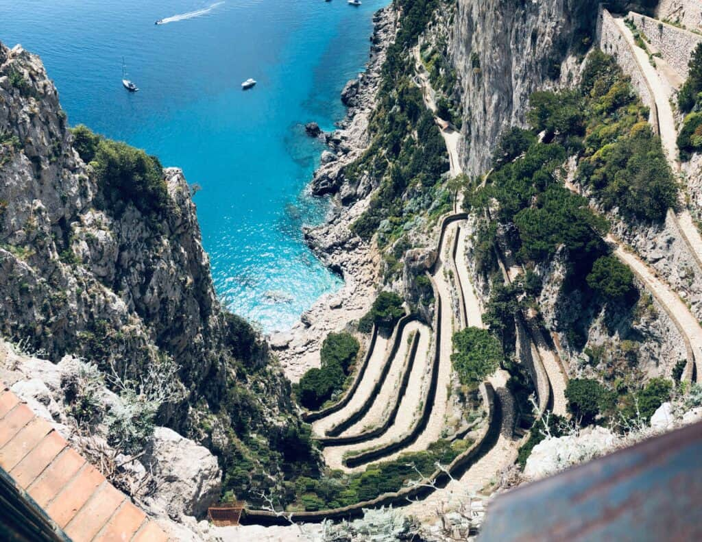 The Italian Island of Capri is a popular holiday spot.