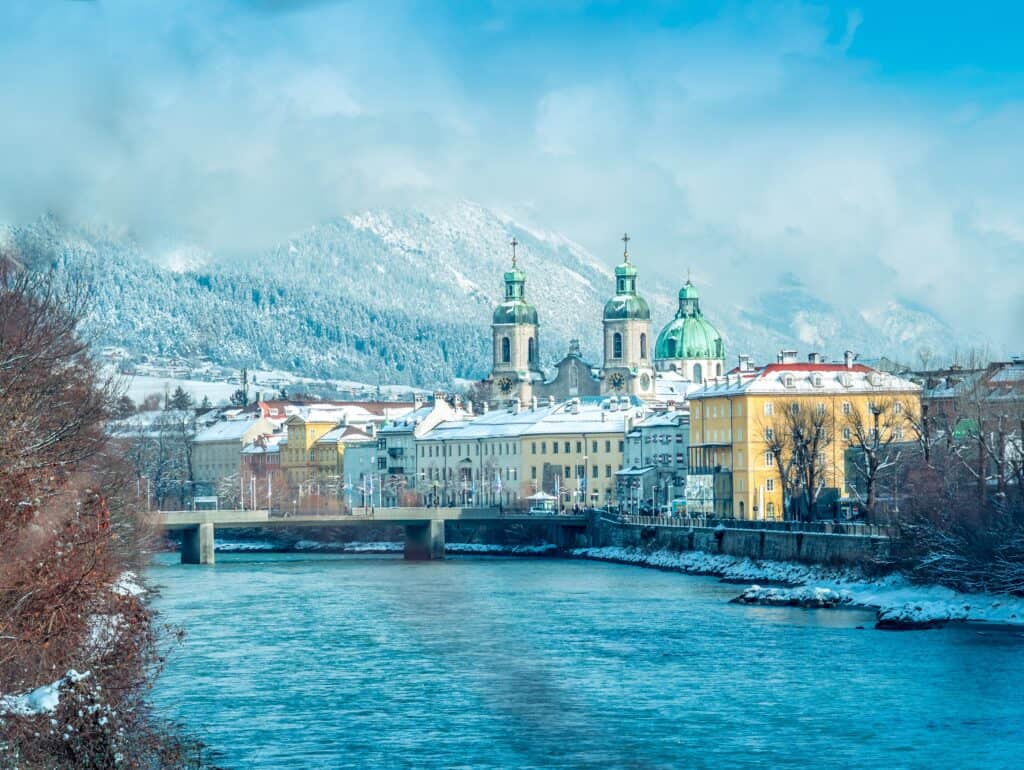 Innsbruck, Austria is one of the best places to visit in Europe in January