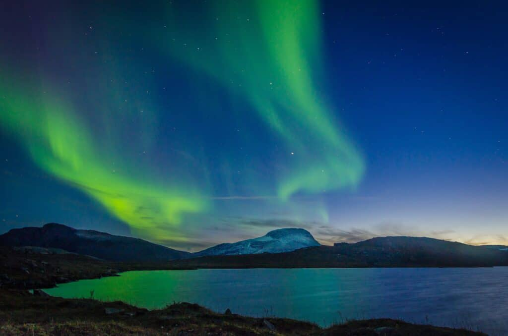 Watching the Northern Lights in Abisko, Sweden is a must do activity in Europe in January.
