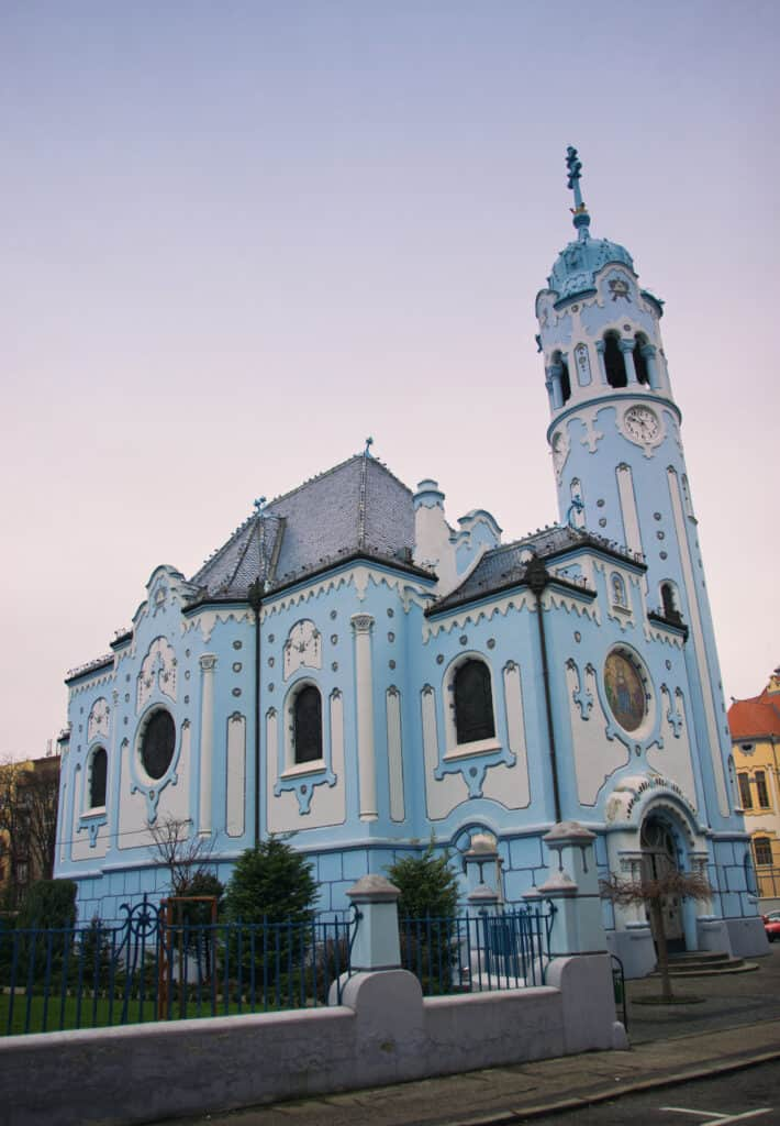 The Blue Church in Bratislava is one of the things you must see on a Bratislava day trip!
