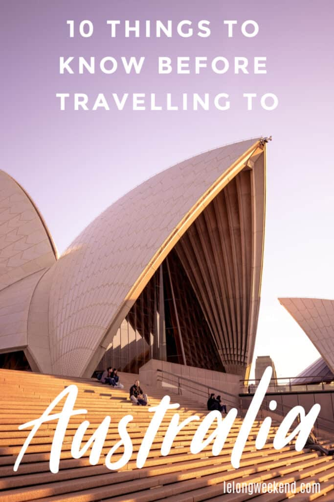 Ten essential things to know before travelling to Australia. #australia #travel