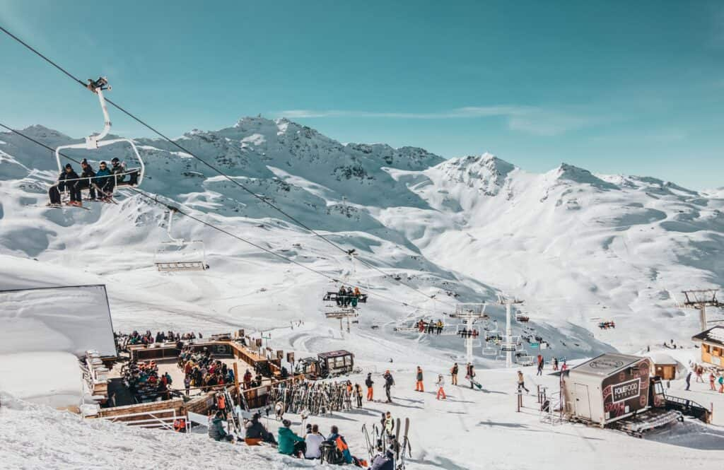 Val Thorens, France, is a beautiful place to visit in Europe in March.