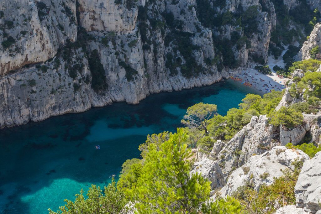 Calanque d'En Vau beach in Cassis, France