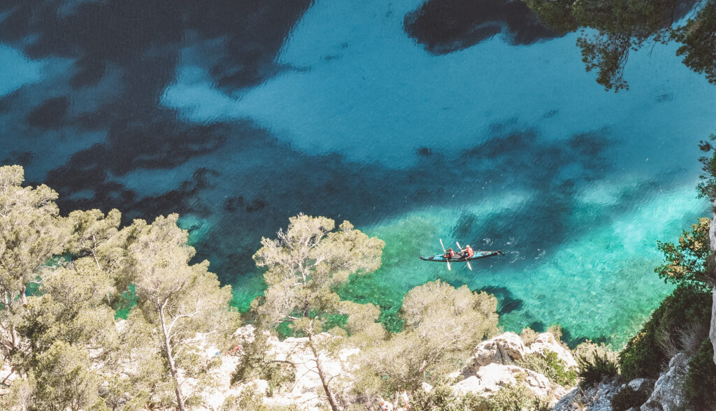 Kayaking the calanques in Cassis, France