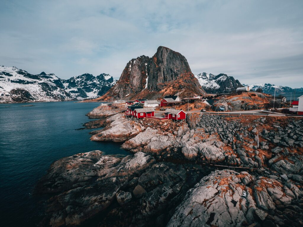 The Lofoten Islands are an excellent place to visit in May in Europe
