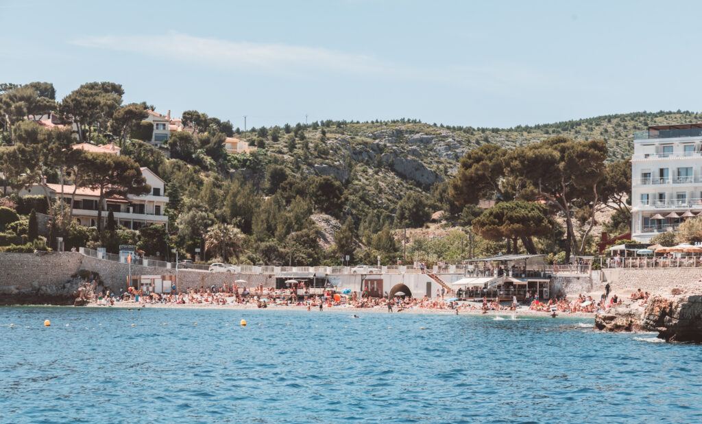 Beaches in Cassis, France