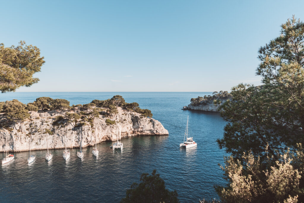 A boat tour of the calanques in Cassis