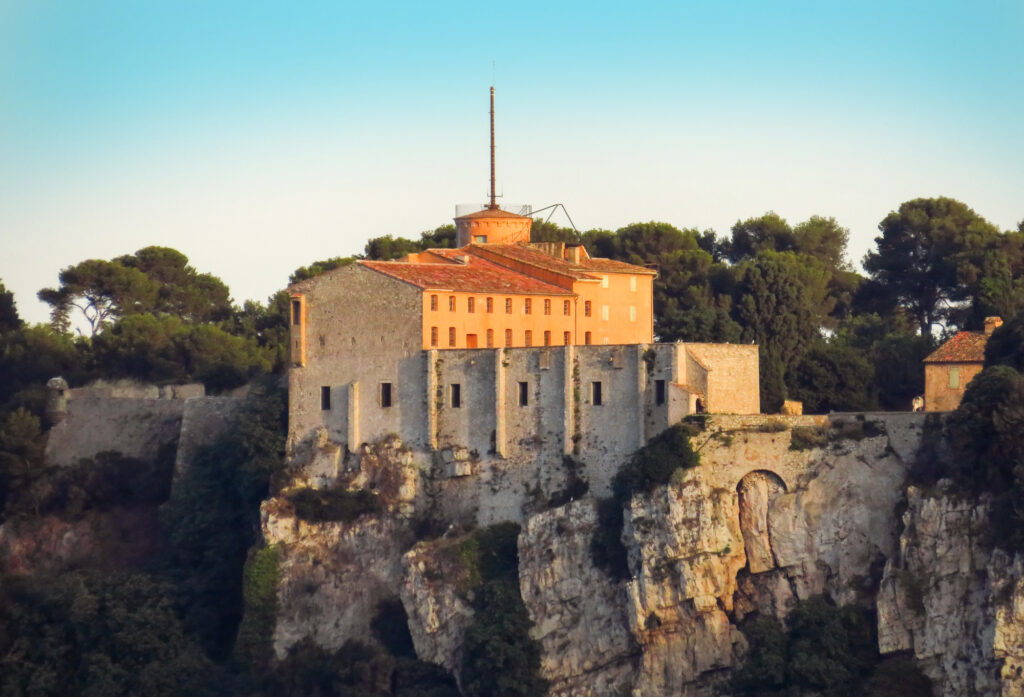 Fort Royal Sainte-Marguerite on the island, the largest of the Lerins Islands in France
