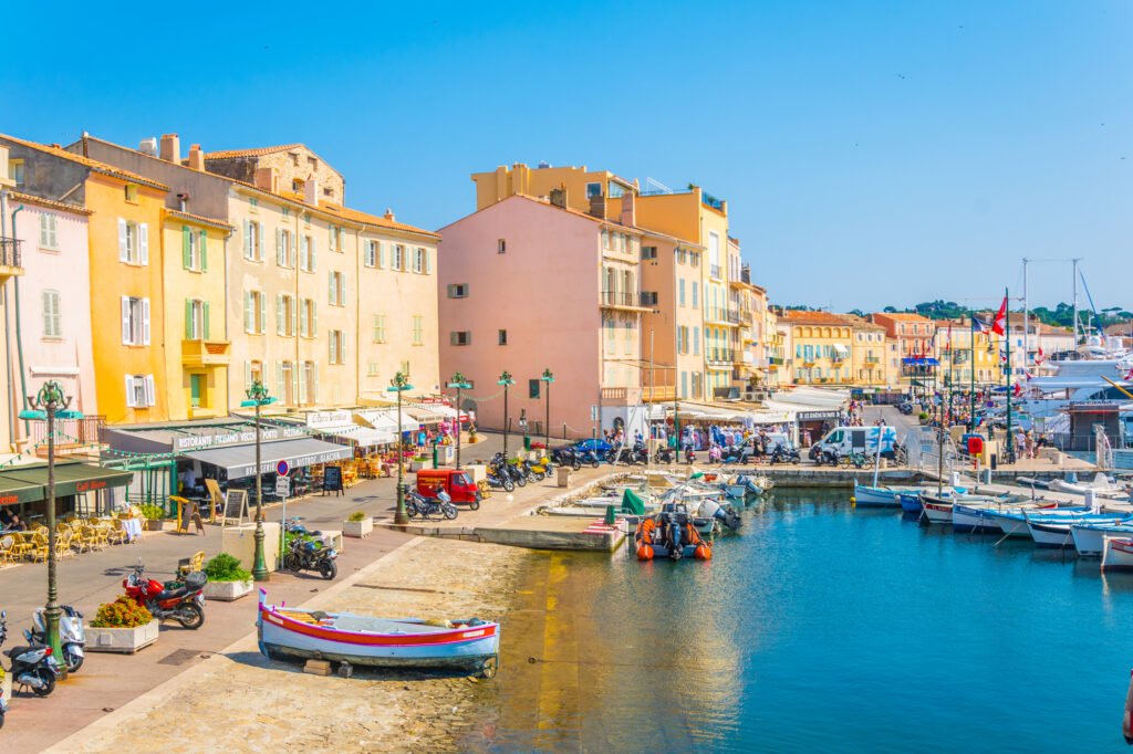 The village of St Tropez in the South of France is one of the best places to visit in June in Europe.