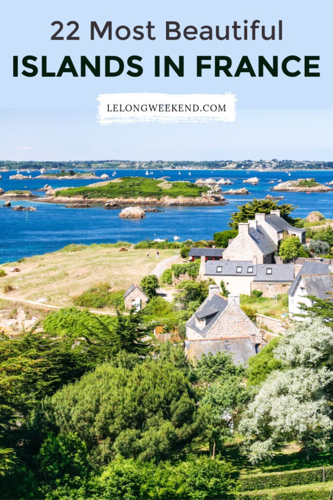 Discover the most beautiful islands in France. From idyllic hideaways in the South of France, to stunning secluded shores off the coast of Brittany, these French Islands have it all. #france #islands #vacation