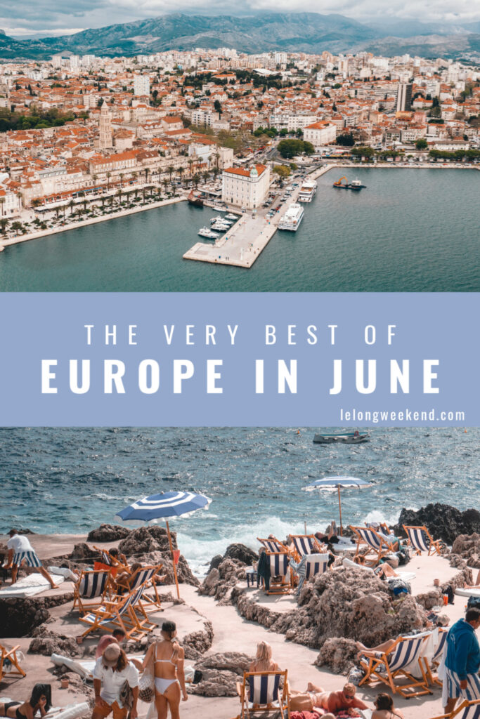 Read about the best places to visit in Europe in June. Idyllic Greek Islands, to scenic city trips, we've got all the very best June destinations covered! #europe #june #summer #vacation