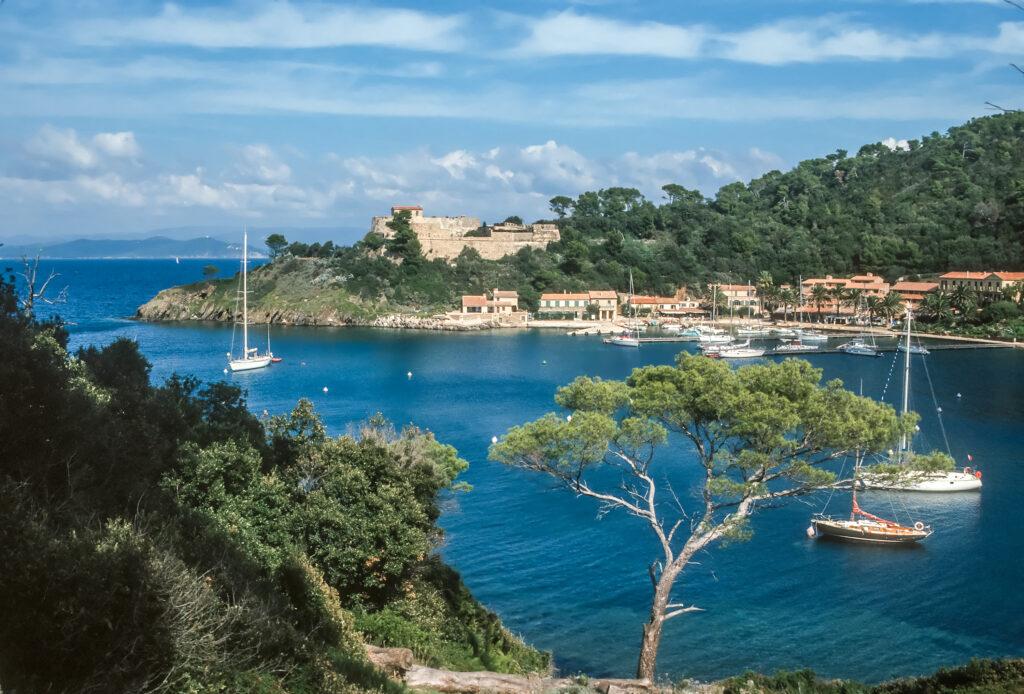 Port Cros is an idyllic island in France