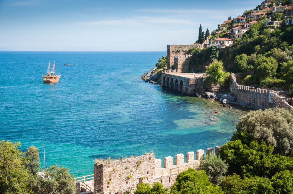 Alanya in Turkey is a great place to visit in July in Europe