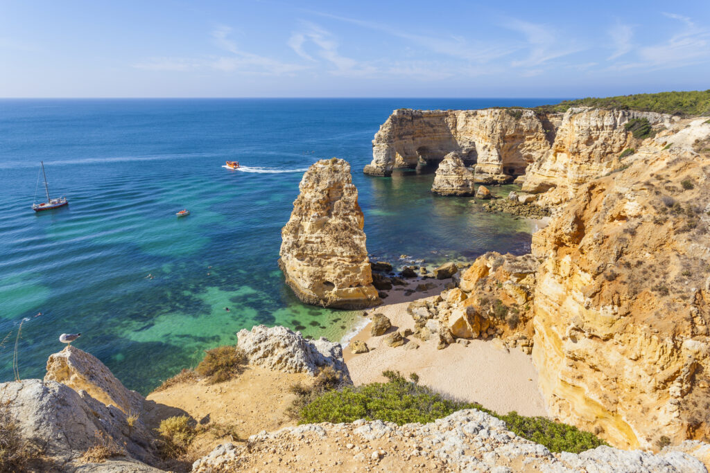 The Algarve in Portugal is a popular summer destination in Europe