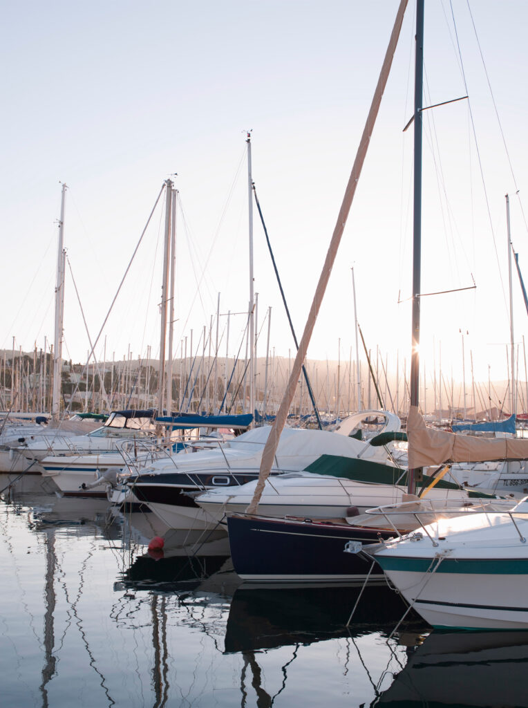 Boats in Bandol Harbour, Provence, France