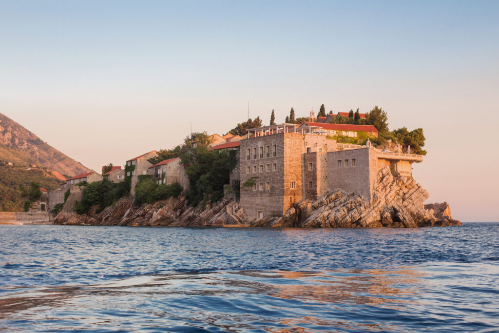 Budva, Montenegro is one of the best places to visit in August in Europe