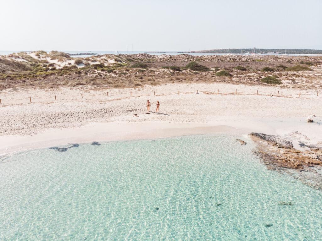 Espalmador Beaches in Formentera, Spain