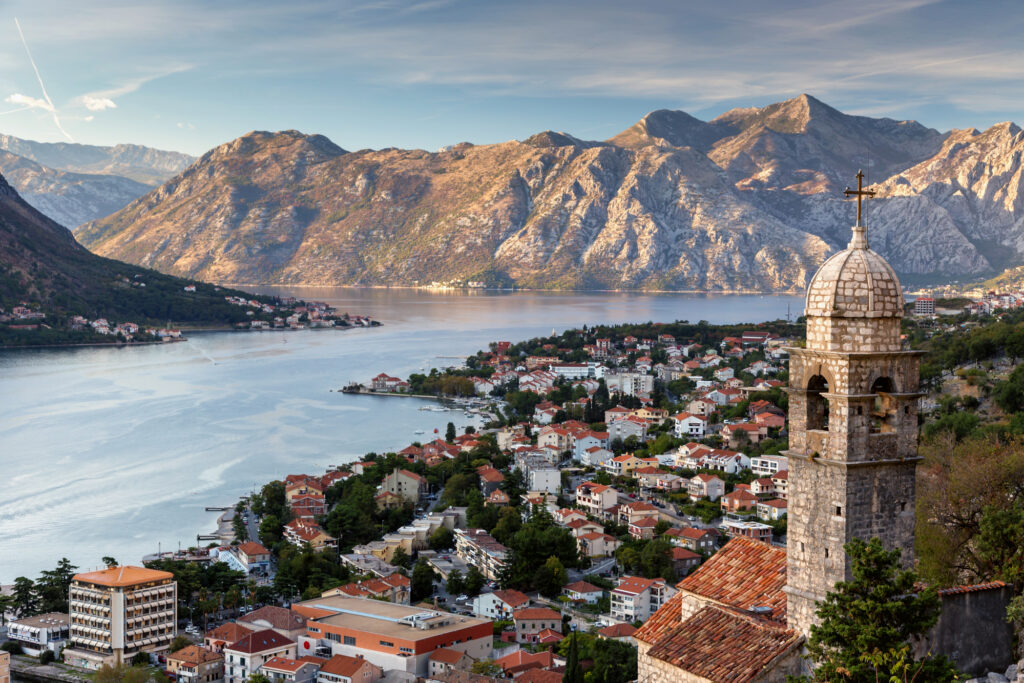 Kotor in Montenegro is one of the best places to visit in Europe in July