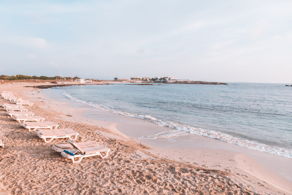 Platja Es Pujols, Formentera Beach in Spain