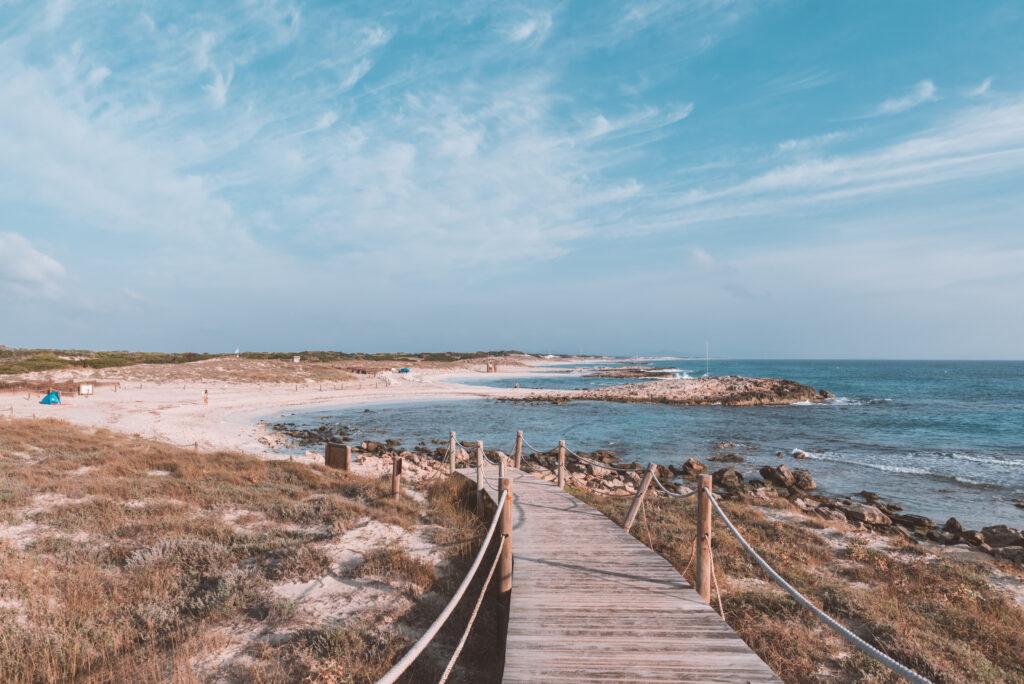 Southern end of platja de Llevant, Formentera, Spain