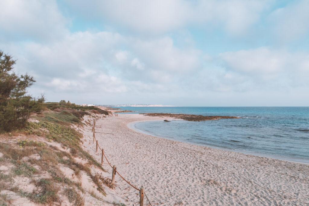 Es Calo Beach in Formentera, Spain