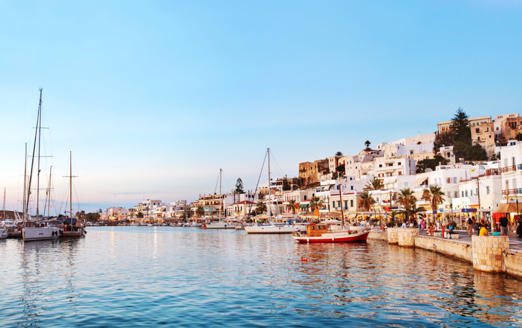 Naxos in Greece is a fabulous place to visit in Europe in July.