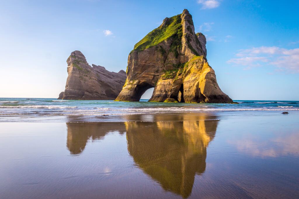Wharariki Beach, New Zealand.