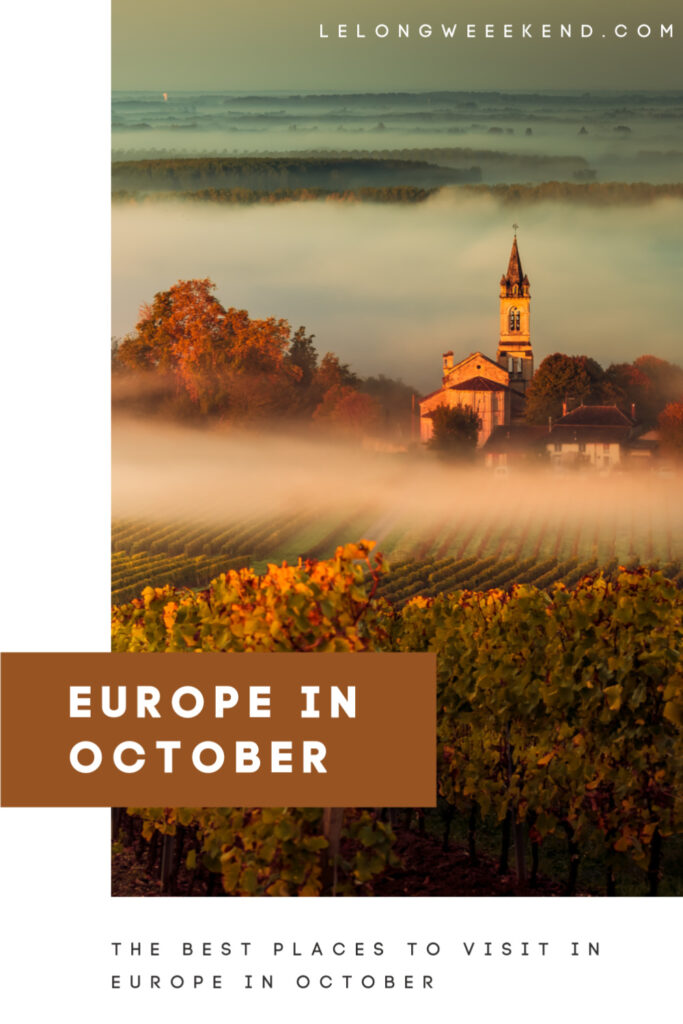 Autumn is a beautiful time to discover Europe's countryside and cities. Find the best places to visit in October in Europe. #europe #fall #autumn #october