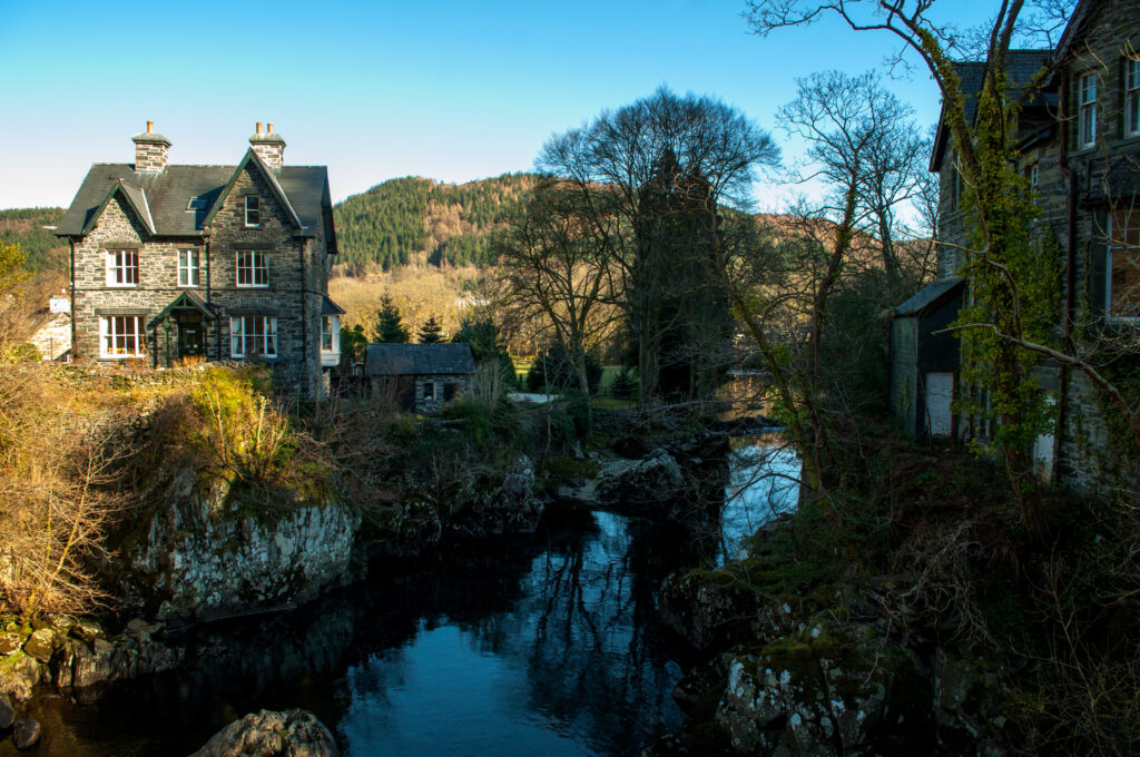 Betws y Coed is a charming little town to visit in Europe in November