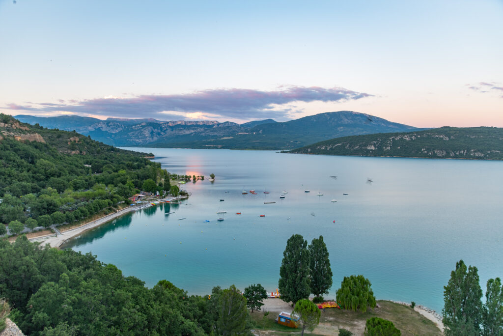 Lac de Sainte-Croix in Provence, France