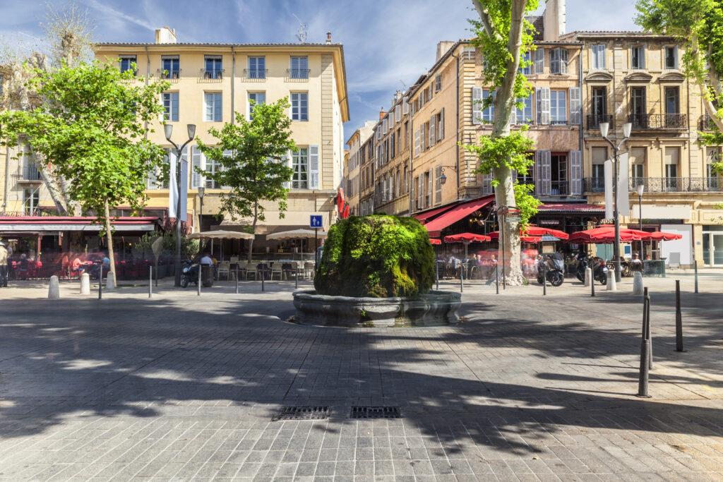 Cours Mirabeau in Aix-en-Provence, France