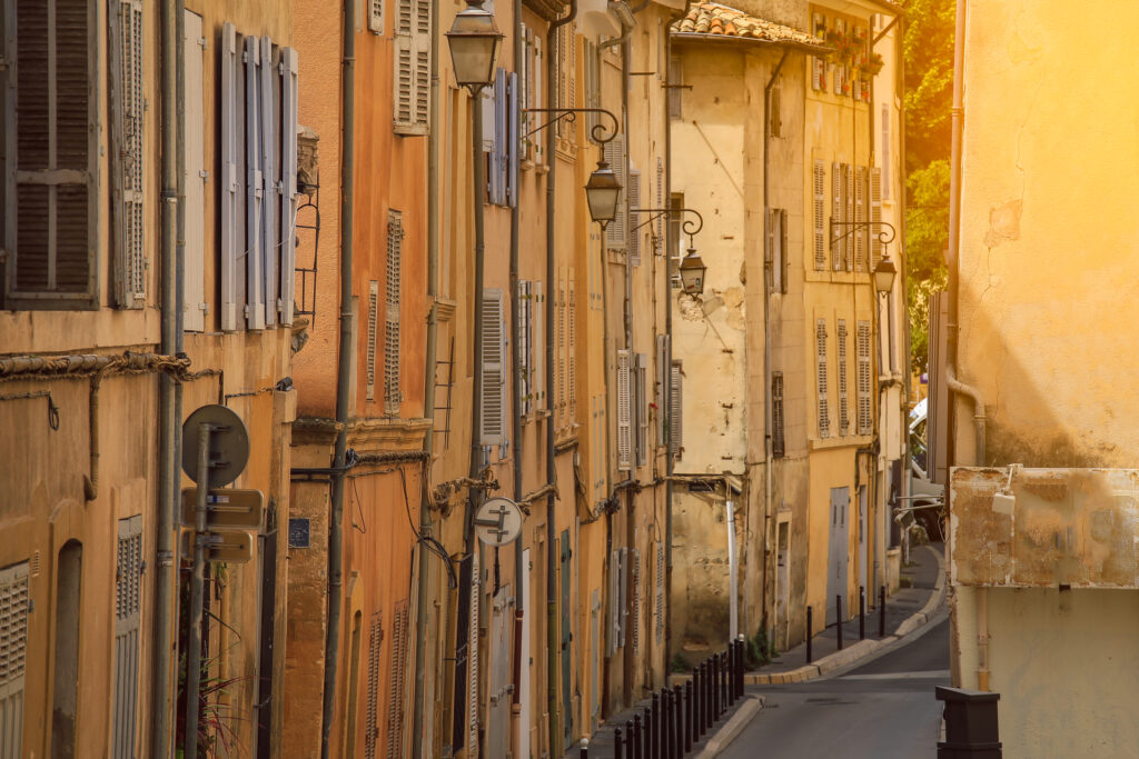 The streets of Aix en Provence France